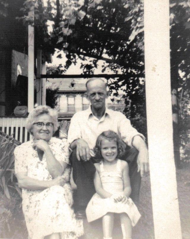 Hunter grandparents and me circa 1950